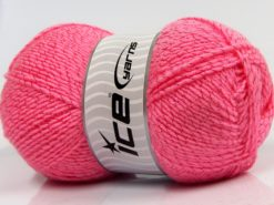 Lot of 4 x 100gr Skeins Ice Yarns SALE PLAIN Hand Knitting Yarn Pink