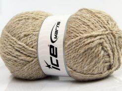 Lot of 4 x 100gr Skeins Ice Yarns BABY WOOL GLITZ (30% Wool) Yarn Light Camel