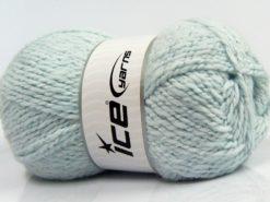 Lot of 4 x 100gr Skeins Ice Yarns BABY WOOL GLITZ (30% Wool) Yarn Baby Blue
