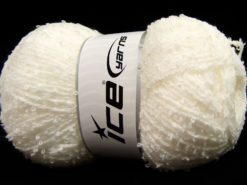 Lot of 4 x 100gr Skeins Ice Yarns SALE BOUCLE Hand Knitting Yarn White