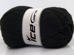 Lot of 4 x 100gr Skeins Ice Yarns WOOLRICH SOFTY FINE (65% Wool) Yarn Black