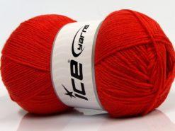 Lot of 4 x 100gr Skeins Ice Yarns WOOLRICH SOFTY FINE (65% Wool) Yarn Marsala Red