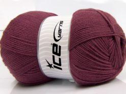 400 gr ICE YARNS WOOL ARAN 400 (35% Wool) Hand Knitting Yarn Maroon