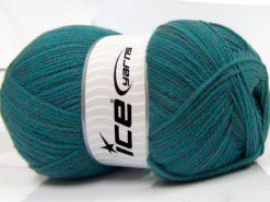 400 gr ICE YARNS WOOL ARAN 400 (35% Wool) Hand Knitting Yarn Turquoise