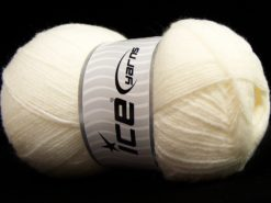 Lot of 4 x 100gr Skeins Ice Yarns SALE BABY Hand Knitting Yarn White