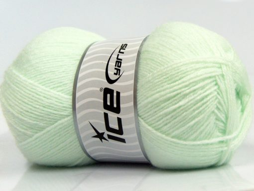 Lot of 4 x 100gr Skeins Ice Yarns SALE BABY Hand Knitting Yarn Light MintGreen