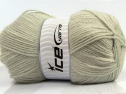 Lot of 4 x 100gr Skeins Ice Yarns SOFTLY BABY FINE Yarn Light Grey