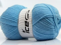 Lot of 4 x 100gr Skeins Ice Yarns SOFTLY BABY FINE Yarn Light Blue