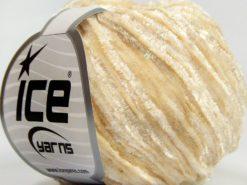 Lot of 8 Skeins Ice Yarns SALE CHENILLE Hand Knitting Yarn Cream