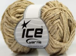 Lot of 8 Skeins Ice Yarns SALE CHENILLE Hand Knitting Yarn Light Camel Gold