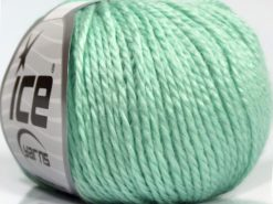 Lot of 8 Skeins Ice Yarns SALE PLAIN Hand Knitting Yarn Mint Green