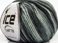 Lot of 8 Skeins Ice Yarns SALE SELF-STRIPING Yarn Black Grey Shades