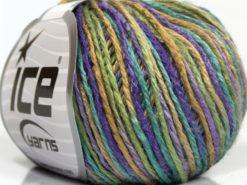 Lot of 8 Skeins Ice Yarns SALE SELF-STRIPING Yarn Purple Camel Green