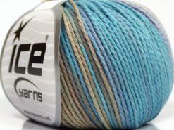Lot of 8 Skeins Ice Yarns SALE SUMMER (100% Cotton) Yarn Lilac Shades Blue Shades Camel
