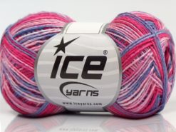 Lot of 8 Skeins Ice Yarns SALE SELF-STRIPING Yarn Pink Shades Blue