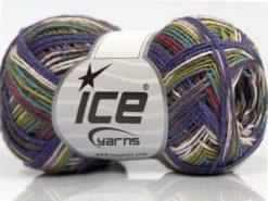 Lot of 8 Skeins Ice Yarns SALE SELF-STRIPING Yarn Purple Maroon Turquoise Green