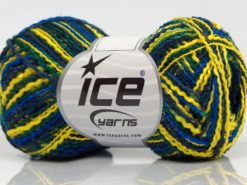 Lot of 8 Skeins Ice Yarns FLAMME ACRYL DK Hand Knitting Yarn Navy Blue Yellow