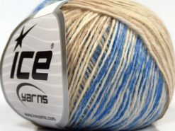 Lot of 8 Skeins Ice Yarns SALE SOCK YARN (75% Superwash Wool) Yarn Blue Ecru Camel