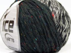 Lot of 8 Skeins Ice Yarns SALE WINTER (32% Wool 8% Viscose) Yarn Black Grey Shades