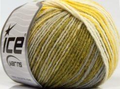 Lot of 8 Skeins Ice Yarns SALE WINTER (30% Wool) Yarn Yellow Shades Green White