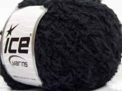 Lot of 8 Skeins Ice Yarns SALE EYELASH (100% MicroFiber) Yarn Black