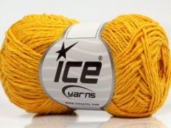 Lot of 8 Skeins Ice Yarns SALE SUMMER (50% Cotton) Hand Knitting Yarn Yellow