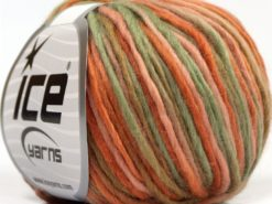 Lot of 6 Skeins Ice Yarns SALE LUXURY-PREMIUM (100% Wool) Yarn Salmon Shades Khaki Shades