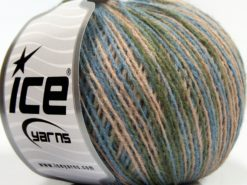 Lot of 8 Skeins Ice Yarns SALE WINTER (50% Wool) Yarn Blue Green Powder Pink