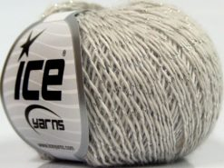 Lot of 8 Skeins Ice Yarns SALE WINTER (30% Wool) Yarn Light Grey Silver