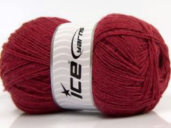 Lot of 4 x 100gr Skeins Ice Yarns SOLID SOCK (75% Superwash Wool) Yarn Dark Red