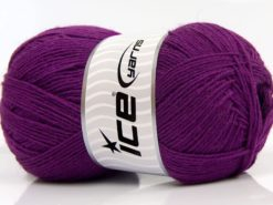 Lot of 4 x 100gr Skeins Ice Yarns SOLID SOCK (75% Superwash Wool) Yarn Purple