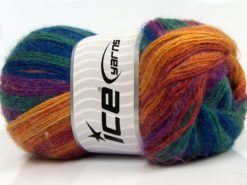 Lot of 4 x 100gr Skeins Ice Yarns ANGORA ELITE (20% Angora 20% Wool) Yarn Rainbow