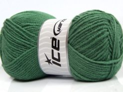Lot of 4 x 100gr Skeins Ice Yarns MERINO GOLD LIGHT (60% Merino Wool) Yarn Green