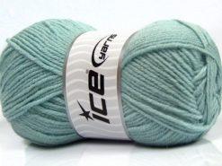 Lot of 4 x 100gr Skeins Ice Yarns MERINO GOLD LIGHT (60% Merino Wool) Yarn Water Green