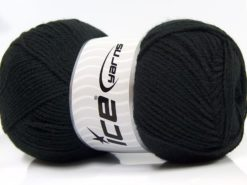 Lot of 4 x 100gr Skeins Ice Yarns SUPER BABY Hand Knitting Yarn Black