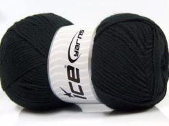 Lot of 4 x 100gr Skeins Ice Yarns SUPER BABY Hand Knitting Yarn Black
