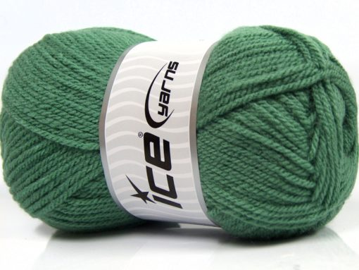 Lot of 4 x 100gr Skeins Ice Yarns Worsted FAVORITE Yarn Light Green