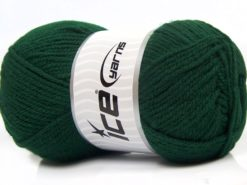 Lot of 4 x 100gr Skeins Ice Yarns Worsted FAVORITE Yarn Dark Green