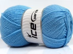 Lot of 4 x 100gr Skeins Ice Yarns Worsted FAVORITE Yarn Light Blue