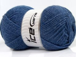 Lot of 4 x 100gr Skeins Ice Yarns Worsted FAVORITE Yarn Jeans Blue