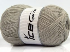 Lot of 4 x 100gr Skeins Ice Yarns SOLID SOCK (75% Superwash Wool) Yarn Light Grey