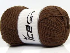 Lot of 4 x 100gr Skeins Ice Yarns SOLID SOCK (75% Superwash Wool) Yarn Dark Brown