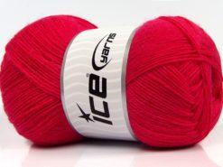 Lot of 4 x 100gr Skeins Ice Yarns SOLID SOCK (75% Superwash Wool) Yarn Fuchsia