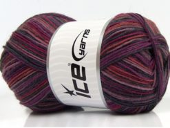 Lot of 4 x 100gr Skeins Ice Yarns MAGIC SOCK (75% Superwash Wool) Yarn Purple Shades Fuchsia
