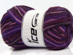 Lot of 4 x 100gr Skeins Ice Yarns MAGIC SOCK (75% Superwash Wool) Yarn Purple Shades