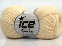 Lot of 8 Skeins Ice Yarns ELEGANT METALLIC COTTON (88% Cotton) Yarn Cream Iridescent