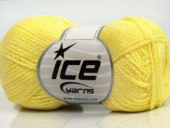 Lot of 8 Skeins Ice Yarns ELEGANT METALLIC COTTON (88% Cotton) Yarn Light Yellow Iridescent
