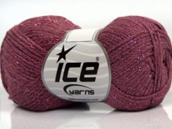Lot of 8 Skeins Ice Yarns ELEGANT METALLIC COTTON (88% Cotton) Yarn Orchid