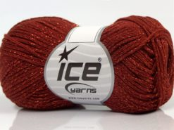 Lot of 8 Skeins Ice Yarns ELEGANT METALLIC COTTON (88% Cotton) Yarn Copper