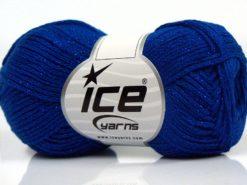 Lot of 8 Skeins Ice Yarns ELEGANT METALLIC COTTON (88% Cotton) Yarn Blue